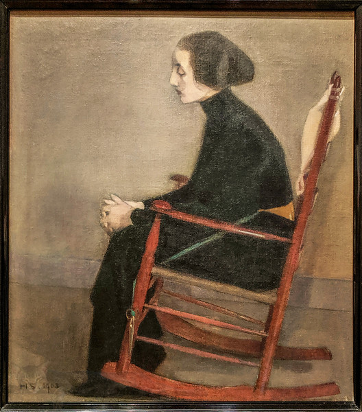 The Seatstress - Helene Schjerfbeck
