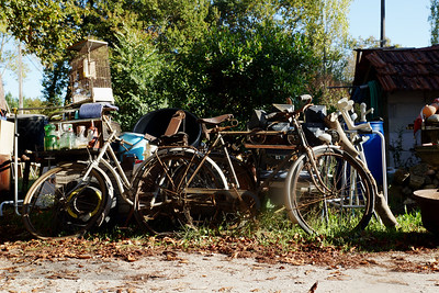 Bikes outside a Bric a Brac Shop