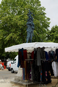 Riberac Market Stall  with Statue