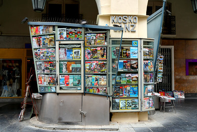 Newspaper Stand in Huesca
