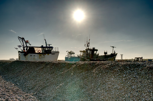 Fishing Boats on Dungeness Beach