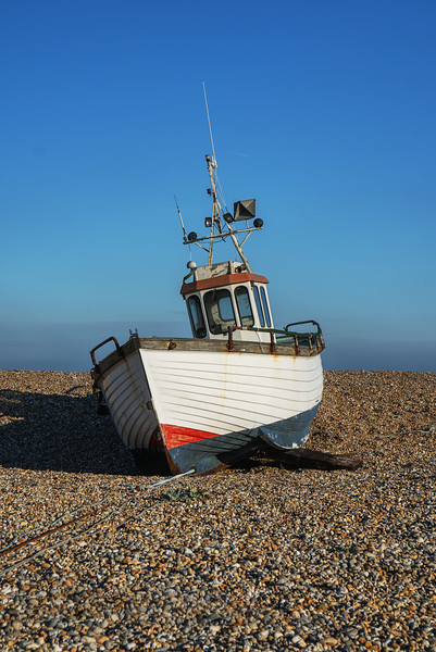 Fishing Boat on Dungeness Beach