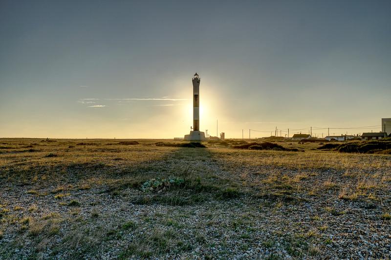Lighthouse on Dungeness Beach