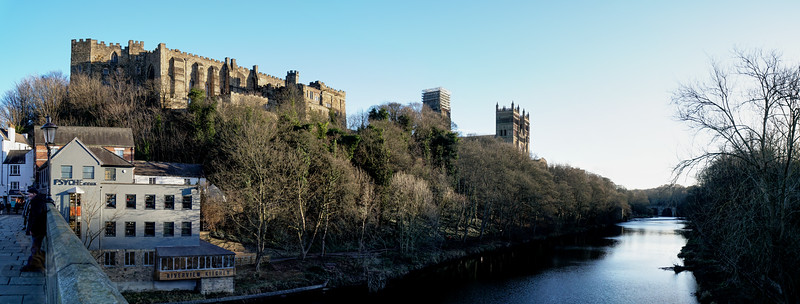 Panorama of Castle, Cathedral and River Wear - Durham