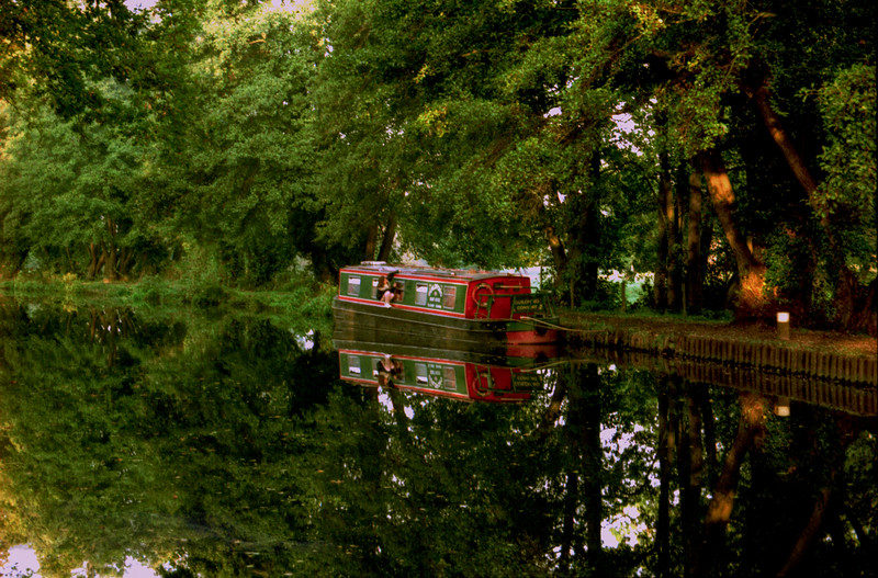 Snaps from a Canal Boat on the Wey Navigation