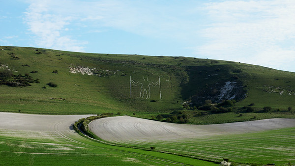 Chalk Figure - The Long Man of Wilmington on the South Downs