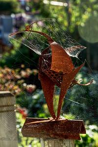 Rusty Bird Garden Sculpture