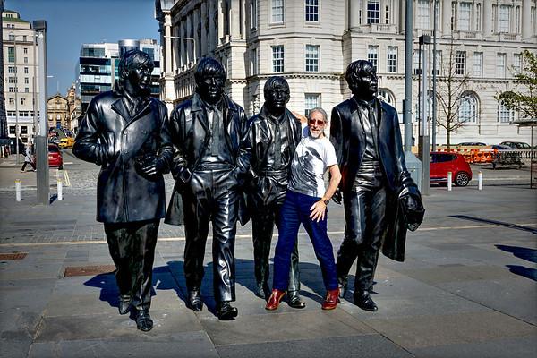 Liverpool - Pier Head - Beatles Sculpture