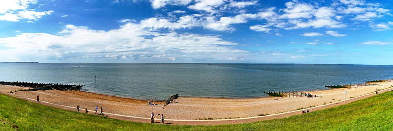 Panorama From Above Whitstable Beach