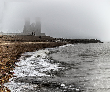 Reculver Towers - 12th Century Church Ruins. Reculver Beach, Kent