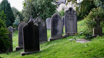 Headstones at St Mary's CofE Church in Riddlesden