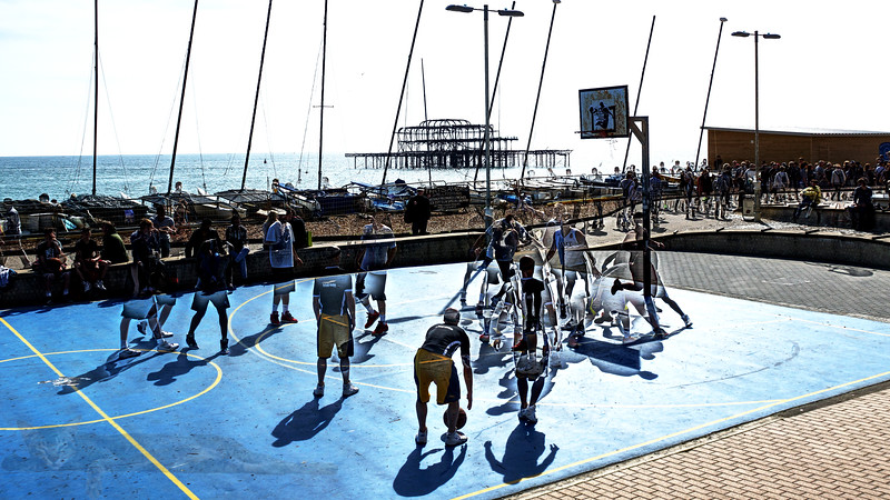 Basketball at Brighton Beach - East Sussex