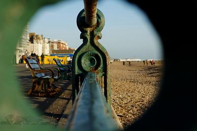 View of Promenade and Beach at Brighton