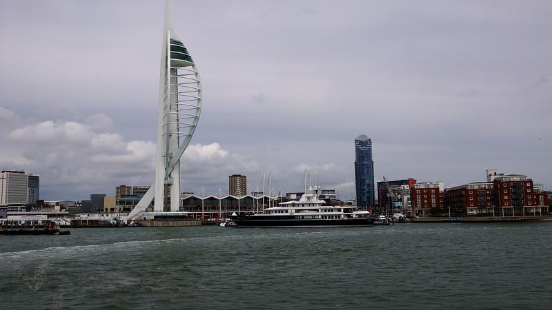 Spinnaker Tower - Leander G Super Yacht - Gunwharf Quays, Portsmouth