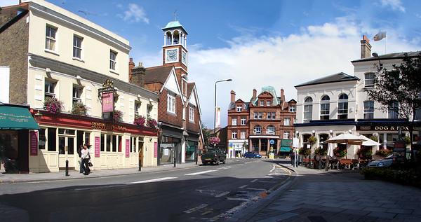 Wimbledon Village Clock Tower & Pubs