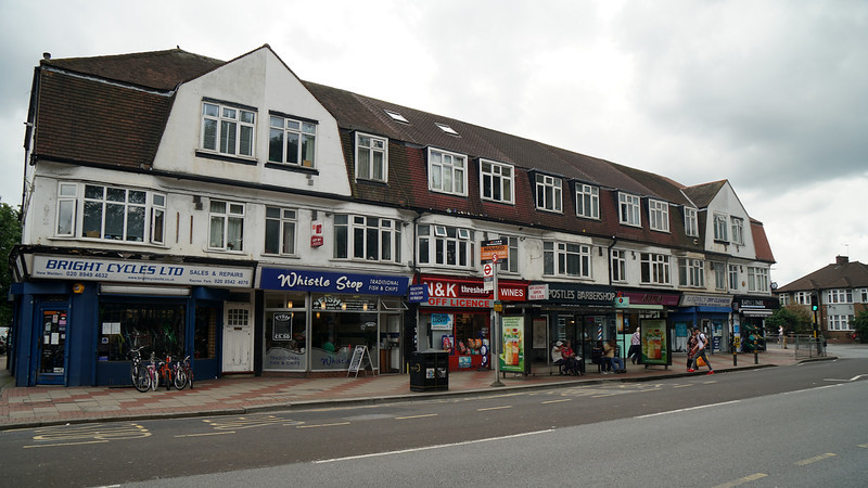 Parade of Shops by Raynes Park Station