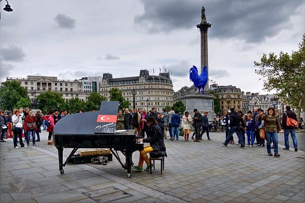 Davide Martello playing Trafalgar Square