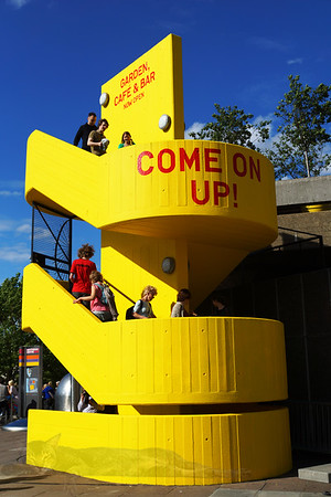 Yellow Stairs to Southbank Roof Garden
