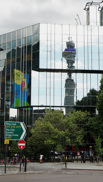 BT Tower reflected in UCLH