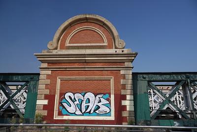 Hungerford Railway Bridge Graffiti