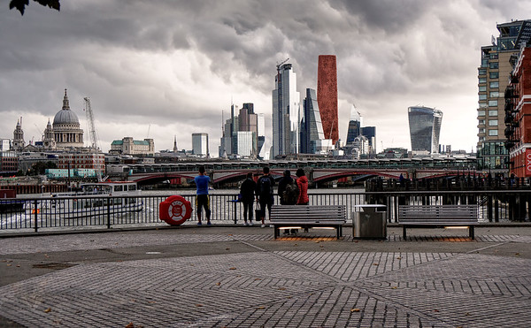 Red Monolith in the City of London