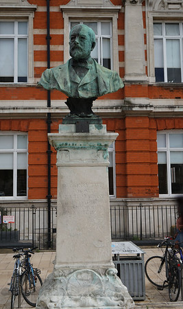 Bust of Sir Henry Tate  outside Brixton Library
