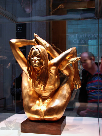 Siren - Kate Moss in 18ct Gold Yoga Pose