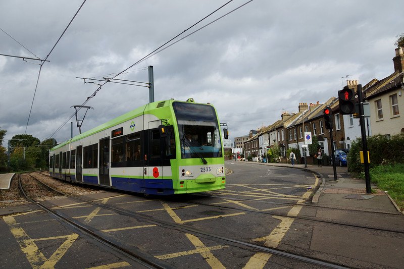 Tram at Dundonald Road 2013