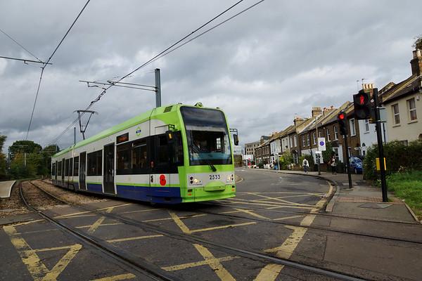 Tram at Dundonald Road 2013