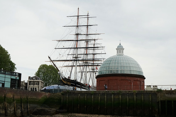 The Cutty Sark and Greenwich Foot Tunnel Entrance