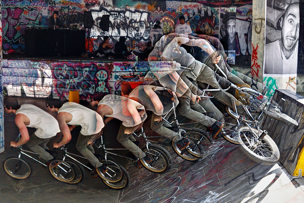 Cyclist - at the Southbank