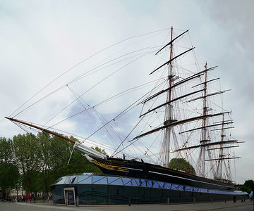 Cutty Sark in Dry Dock at Greenwich - London