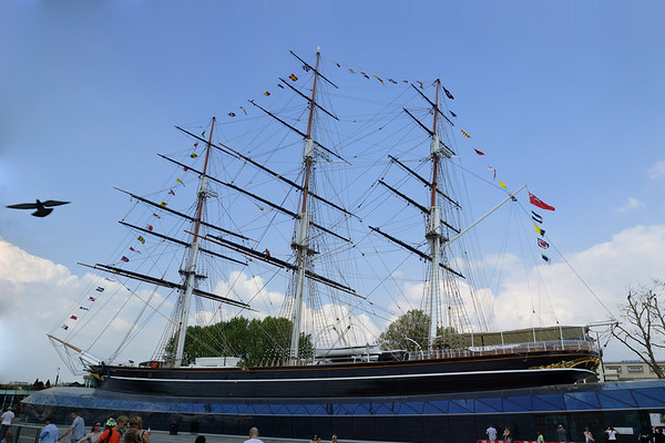 Cutty Sark in Dry Dock at Greenwich