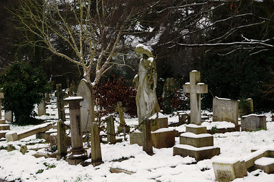 St Mary's Church Graveyard in Winter