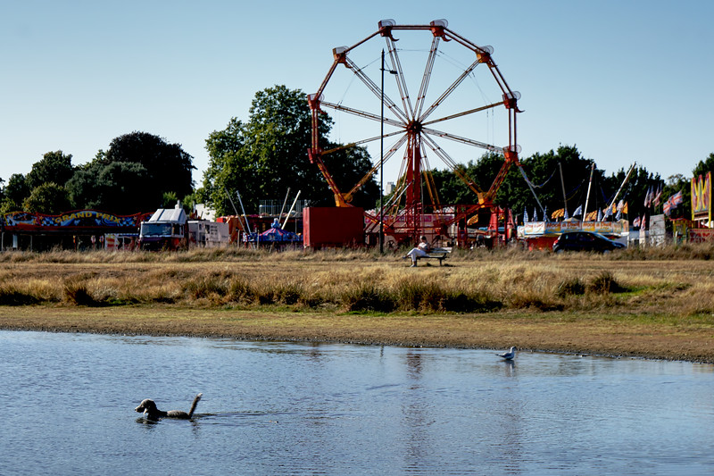 Fair Setting up on Wimbledon Common September 2019