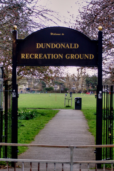 Entrance to Dundonald Recreation Ground - Wimbledon