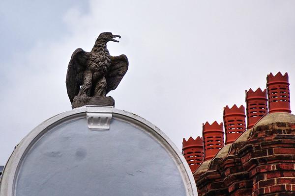 Eagle Statue on Eagle House - Wimbledon