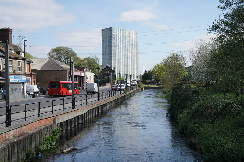 The River Wandle at Colliers Wood
