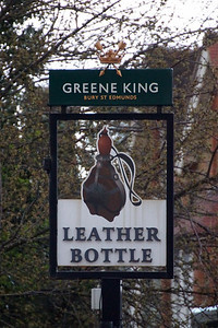 The Leather Bottle Pub Sign
