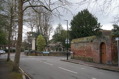 Church Lane Junction With Church Path - Merton Park