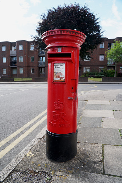 Nursery Road - Red EIIR Pillar Box