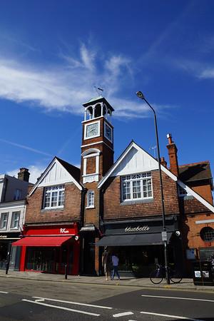 Wimbledon Village - Clock Tower opposite the Dog & Fox Public House