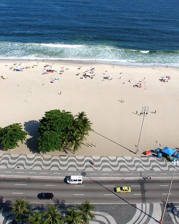 Copacabana Beach - Aerial View