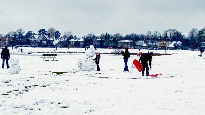 Wimbledon Common - Winter Snow