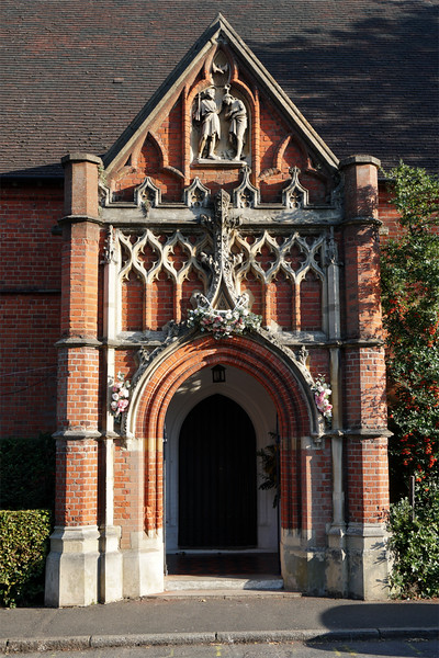 Door of St John the Baptist Church - Wimbledon
