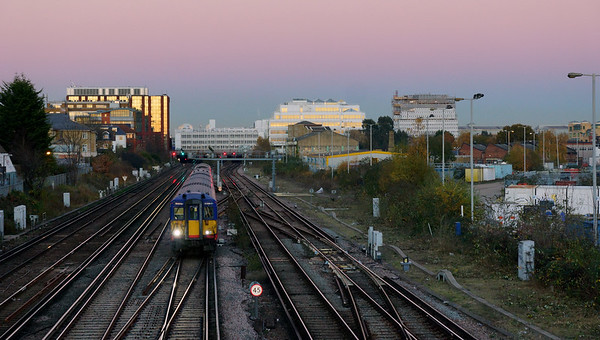 Train Leaving Wimbledon Station
