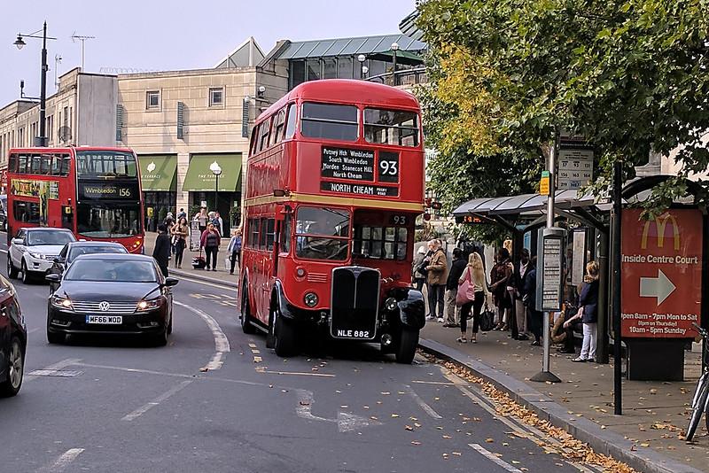 Restored Number 93 London Bus