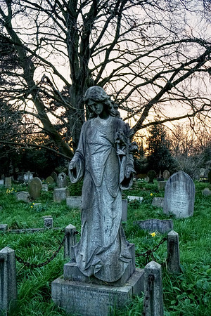 Statue in St Mary's Churchyard, Merton Park