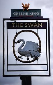 The Swan Pub Sign - Wimbledon