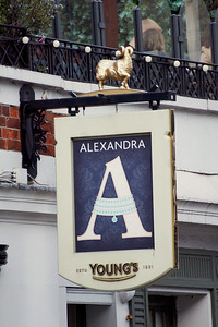The Alexandra - Wimbledon - Pub Sign